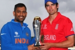 MS Dhoni and Alastair Cook