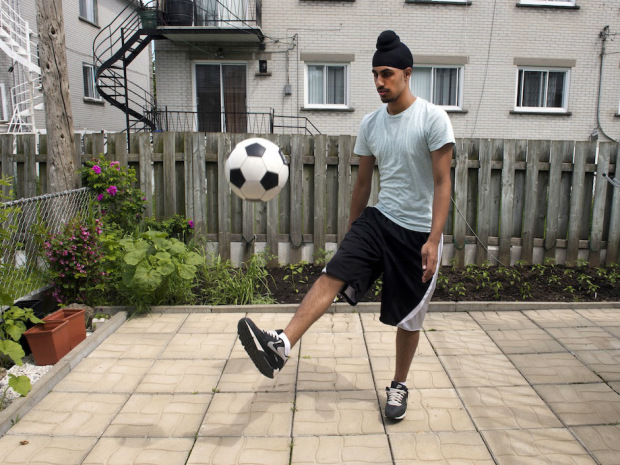 Aneel Samra, 18, has not been able to play organized soccer in Quebec since last year due to his religious headgear.THE CANADIAN PRESS/Ryan Remiorz