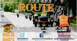 Khalsa Bikers – Route13 only 2 weeks away!