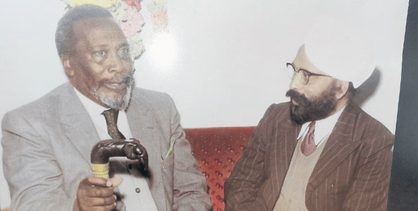 Makhan Singh with Jomo Kenyatta soon after independence PHOTOFRED OLUOCH  NATION