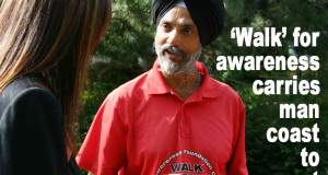 Canadian Sikh Leads 'Drug Awareness Walk Across Canada'