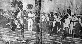 Makhan Singh showed his athletic prowess when he beat Milkha Singh in the 1962 Kolkata National Games. He ended the games with four gold medals in different events.