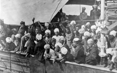 "Undated handout photo of titled ""The Komagata Maru"" 1914 by John Thomas Woodruff from 100 Photos That Changes Canada, Wednesday, November, 4, 2009. (HANDOUT/Vancouver Sun)"