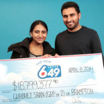 Brampton couple hits $18.8M lotto jackpot