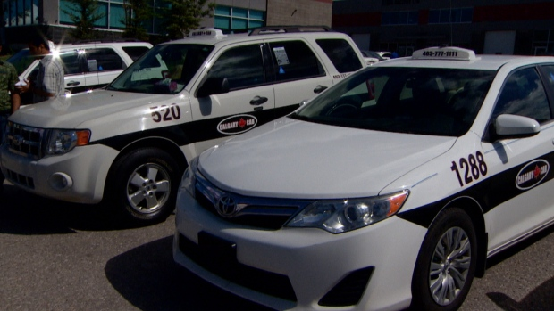 Calgary United Cab, a new company, officially launched in the city on Sunday. (CBC)