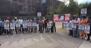Protest against Gippy Grewal in California